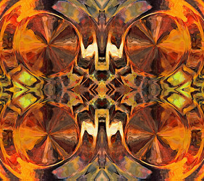 Orange Slices Ornamental Abstract Art Print by Georgiana Romanovna