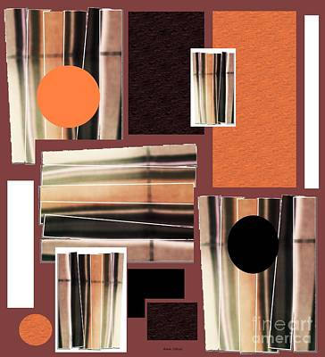Mixed Media - Orange Stacked Up by Ann Calvo