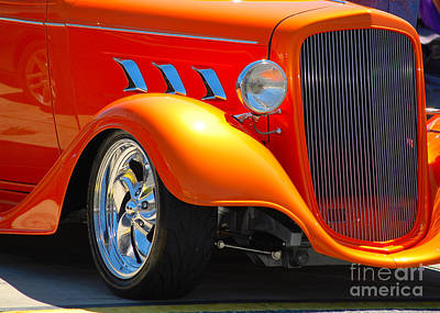 Photograph - orange Street Rod closeup by Mark Spearman
