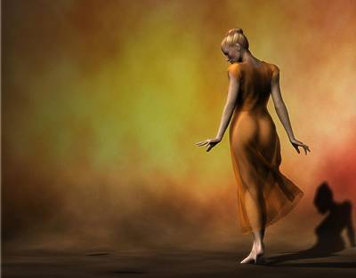 Art Print featuring the digital art Orange Strut by Kaylee Mason