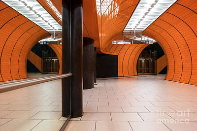 Orange Subway Station Art Print