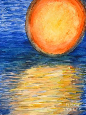 Abstract Art Painting - Orange Sunset by Diane DiMarco