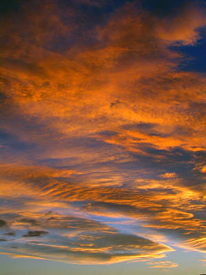 Photograph - Orange Sunset by Amber Nissen