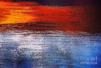 Digital Art - Orange Sunset by Danuta Bennett
