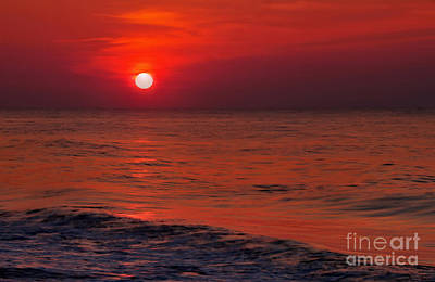 Photograph - Orange Sunset by Jeff Breiman