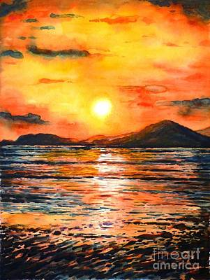 Painting - Orange Sunset by Zaira Dzhaubaeva