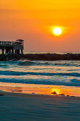 Photograph - Orange Sunshine At Jetty Park by Cliff C Morris Jr
