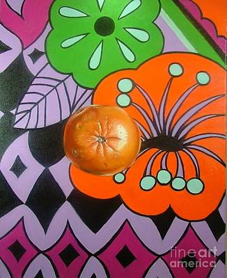 Painting - orange Sunshine by Shelley Laffal