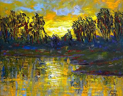 Painting - Orange Swamp by Kenny Henson