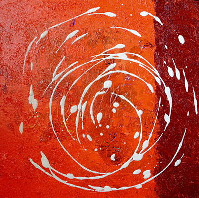 Painting - Orange Swirl by Sue McElligott