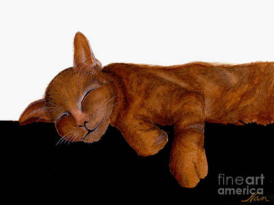 Painting - Orange Tabby Cat Napping by Nan Wright