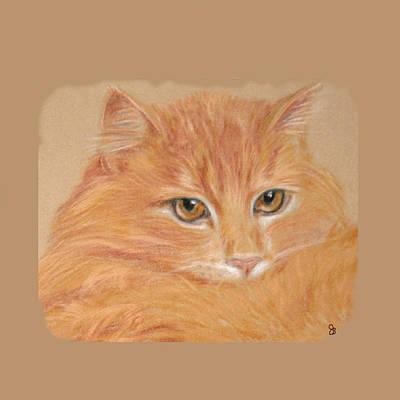 Orange Tabby  Art Print by Jeanie Beline