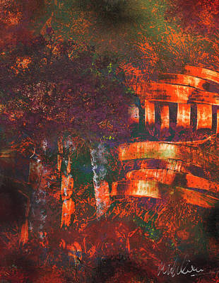 Painting - Orange Temple by Mike Cicirelli