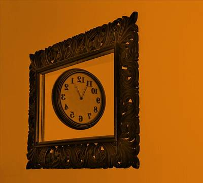 Photograph - Orange Time Frame by Rob Hans
