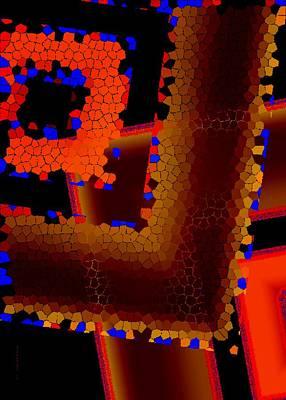 Frame Digital Art - Orange Tone by Mario Perez