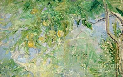 Orange Tree Branches Art Print by Berthe Morisot