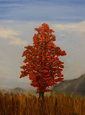 Painting - Orange Tree Standing Tall by Rick Carbonell