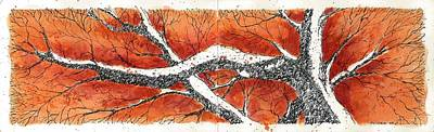 Art Print featuring the mixed media Orange Tree by Tim Oliver