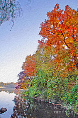 Orange Trees Art Print by Nur Roy