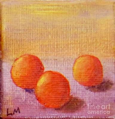 Painting - Orange Trio by Laurie Morgan
