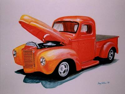 Painting - Orange Truck by Stacy C Bottoms