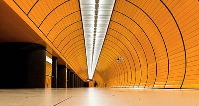 Munich Photograph - Orange Tube by Jorge Maia