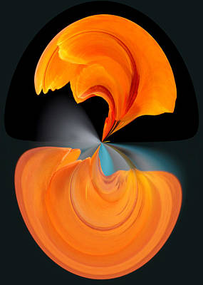 Photograph - Orange Tulip Hour Glass by Jim Baker