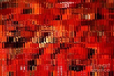 Orange Under Glass Abstract Art Print by Carol Groenen