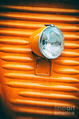 Photograph - Orange Van Headlight by Silvia Ganora