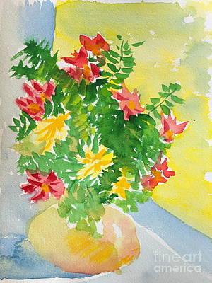Painting - Orange Vase by Walt Brodis