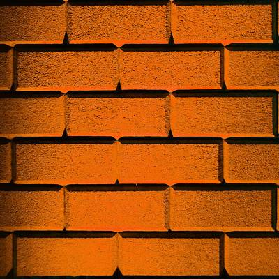 Photograph - Orange Wall by Semmick Photo
