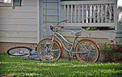 Photograph - Orange Wheels by Linda Brown