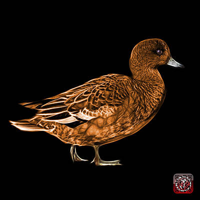 Mixed Media - Orange Wigeon Art - 7415 - Bb by James Ahn