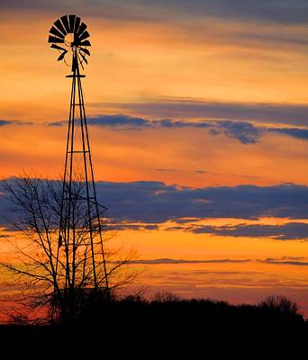 Photograph - Orange Windmill by Bonfire Photography