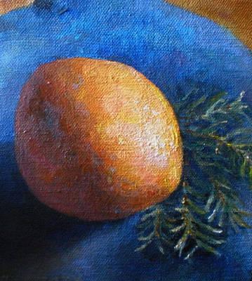Fruit Tree Art Painting - Orange With Fir by Jason Rafferty