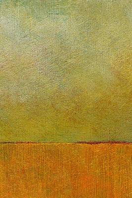 Basic Painting - Orange With Red And Gold by Michelle Calkins