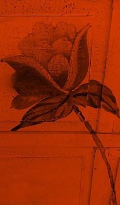 Orange Wood Flower Art Print by Rob Hans