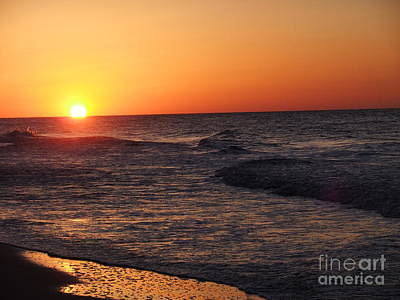 Photograph - Orange Yellow Pink Sun Set by Deborah DeLaBarre
