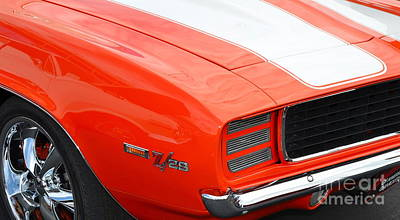 Photograph - orange Z28 closeup by Mark Spearman