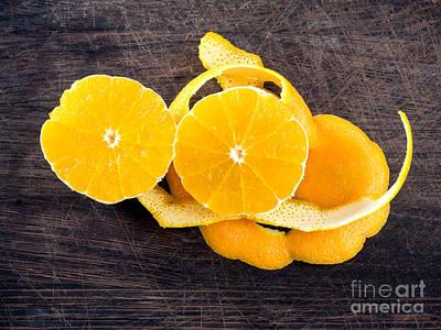 Grate Photograph - Orange Zest by Frank Bach