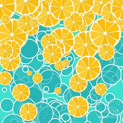 Food And Beverage Digital Art - Oranges and bubbles by Gaspar Avila