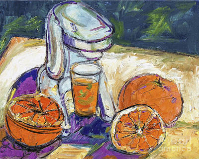 Painting - Oranges And Juicer Still Life by Ginette Callaway