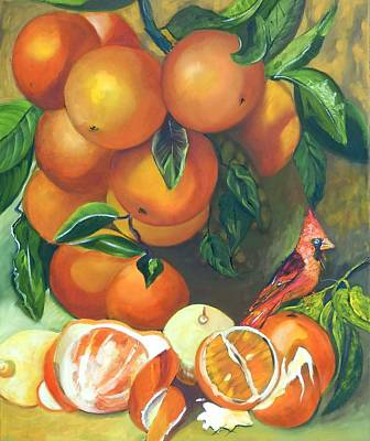 Boardroom Art Mixed Media - Oranges And Lemons by Susan Robinson
