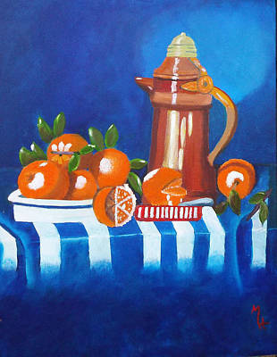 Painting - Oranges Are Good For You by Margaret Harmon