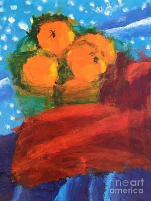 Art Print featuring the painting Oranges by Donald J Ryker III