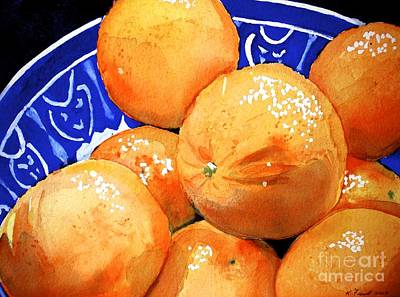 Painting - Oranges by Kathy Flood