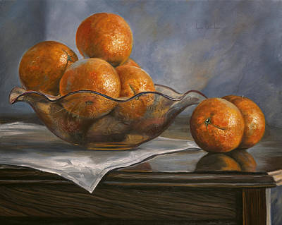 Painting - Oranges by Lucie Bilodeau