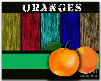 Tree Leaf Mixed Media - Oranges  by Marvin Blaine