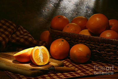 Oranges Art Print by Olivier Le Queinec