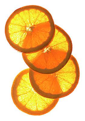 Oranges On White Art Print by Jack Andersen